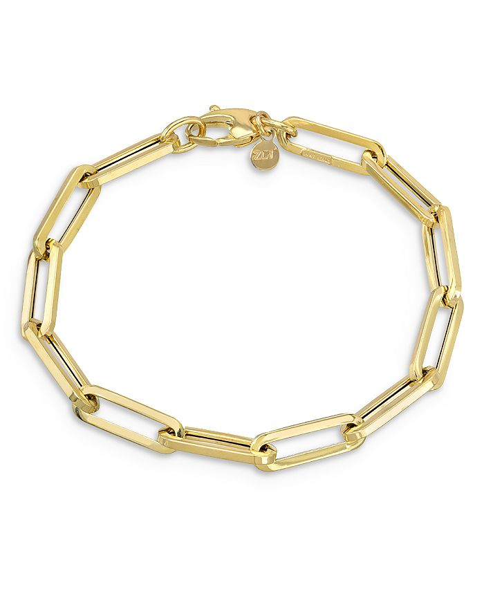 Zoe Lev - 14K Yellow Gold Extra Large Paper Clip Chain Bracelet