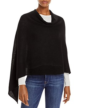 Fraas - Solid Asymmetrical Cashmere Poncho - 100% Exclusive