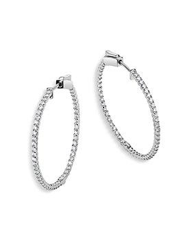 Bloomingdale's - Diamond Inside Out Hoop Earrings in 14K White Gold, 1.0 ct. t.w. - 100% Exclusive