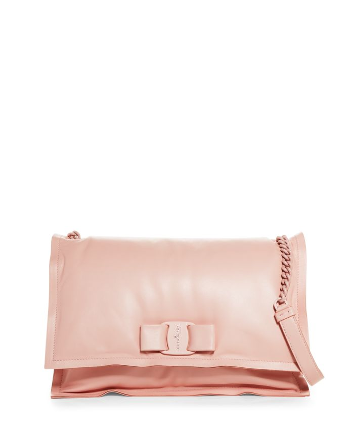 Salvatore Ferragamo Viva Roman Leather Shoulder Bag    Bloomingdale's