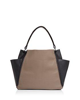 Callista - Iconic Color Block Leather Shoulder Bag