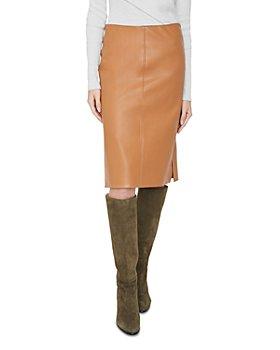 Brochu Walker - River Faux Leather Pencil Skirt