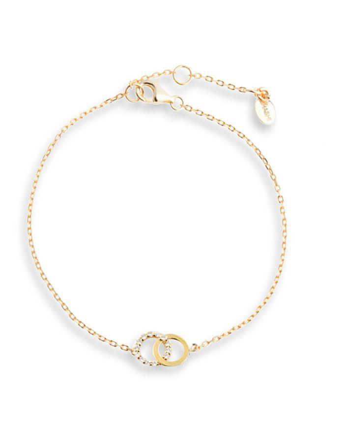 AQUA - Cubic Zirconia Interlocking Ring Bracelet - 100% Exclusive