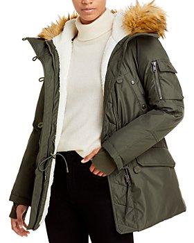 AQUA - Alps Faux Fur Trim Parka - 100% Exclusive
