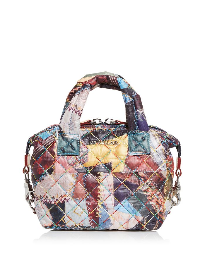Mz Wallace Crazy Quilt Print Micro Sutton Bag In Multi