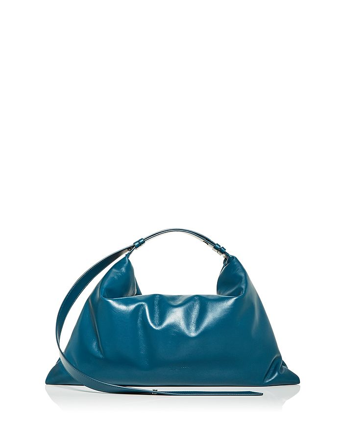 SIMON MILLER - Large Puffin Leather Shoulder Bag