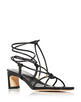 Anine Bing - Women's Graham Ankle Tie Mid Heel Sandals