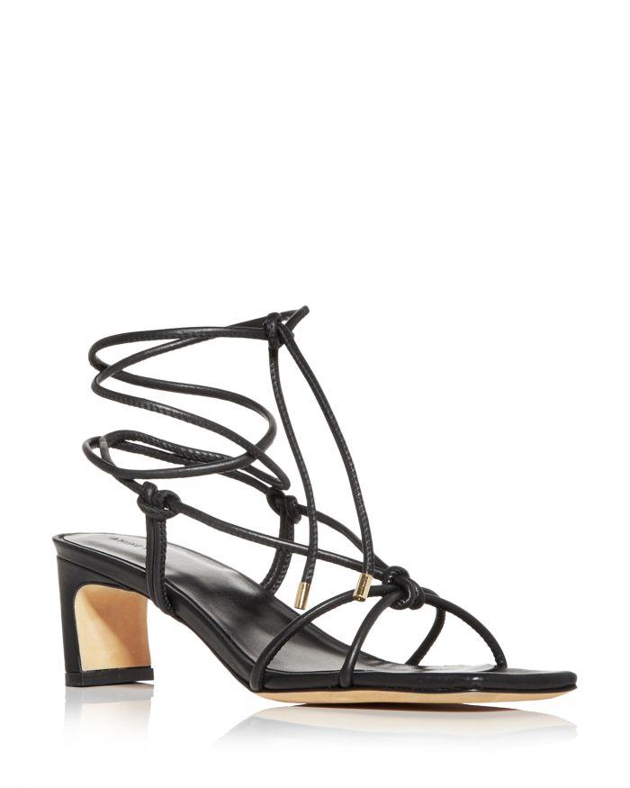 Anine Bing Women's Graham Ankle Tie Mid Heel Sandals    Bloomingdale's