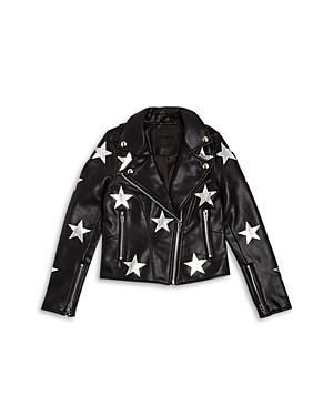 Blanknyc Girls\\\' Star Print Faux Leather Jacket - Big Kid-Kids