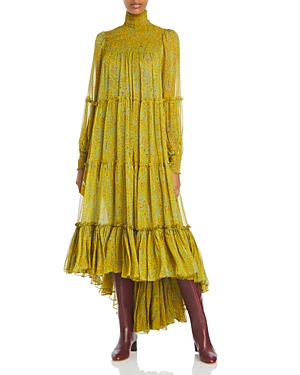 Cinq a Sept Rika Printed High/Low Dress-Women