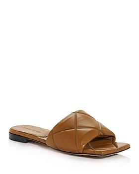 Bottega Veneta - Women's Quilted Slide Sandals