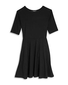 AQUA - Girls' Rib Knit Fit and Flare Dress - Big Kid
