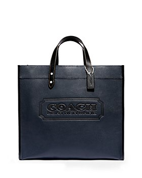 COACH - Leather Logo Laptop Field Tote 40