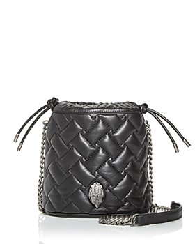 KURT GEIGER LONDON - Kensington Quilted Leather Bucket Bag