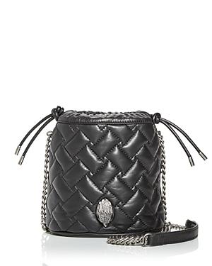 Kurt Geiger London Kensington Quilted Leather Bucket Bag-Handbags