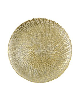 VIETRI - Rufolo Glass Gold Crocodile Service Plate/Charger