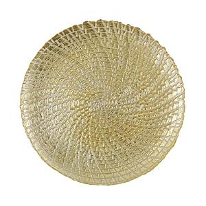 Vietri Rufolo Glass Gold Crocodile Service Plate/Charger-Home