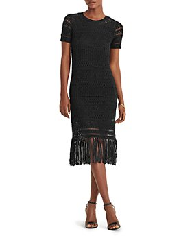 Ralph Lauren - Pointelle Knit Fringe Hem Dress