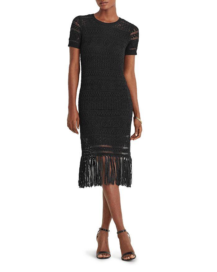 Ralph Lauren - Pointelle Knit Fringe Hem Dress
