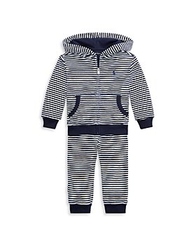Ralph Lauren - Boys' Striped Plush Hoodie & Jogger Pants Set - Baby