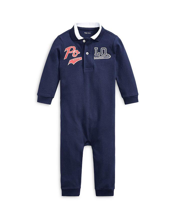 Ralph Lauren - Boys' Cotton Piqué Polo Coverall - Baby