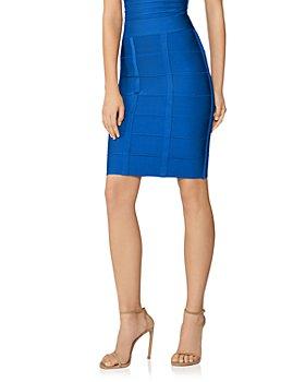 Hervé Léger - Knee-Length Bandage Knit Skirt