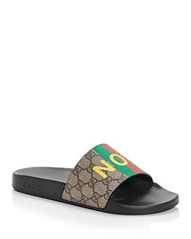 Gucci - Men's 'Fake/Not' Print Slide Sandals