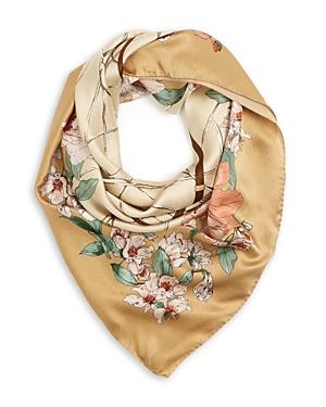 Max Mara Birba Floral Slik Scarf-Jewelry & Accessories