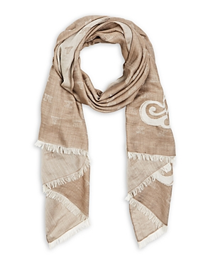 Max Mara Liuto Logo Monogram Fringed Scarf-Jewelry & Accessories