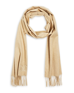 Max Mara Clara Fringed Cashmere Scarf-Jewelry & Accessories