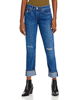 rag & bone - Miss Dre Low-Rise Jeans in Mission With Holes