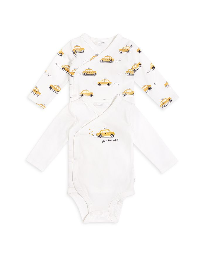 FIRSTS by petit lem - Unisex Taxi Print Diaper Shirt Set - Baby