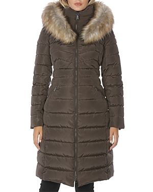 Laundry By Shelli Segal LAUNDRY BY SHELLI SEGAL FAUX FUR TRIM PUFFER COAT