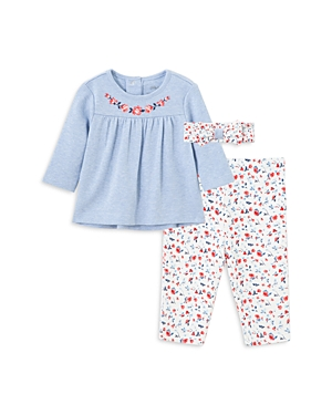 Little Me Girls\\\' Chambray Tunic, Floral Print Leggings & Headband Set - Baby-Kids
