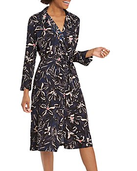 NIC and ZOE - Inky Blooms Printed Shirt Dress