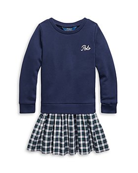 Ralph Lauren - Girls' Plaid Skirt Sweatshirt Dress - Little Kid, Big Kid
