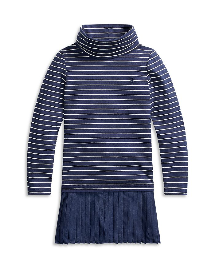 Ralph Lauren - Girls' Striped Turtleneck Dress - Little Kid, Big Kid