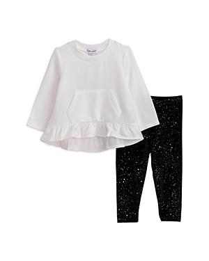 Splendid Girls\\\' Long Sleeve Ruffle Top & Sparkle Leggings Set - Baby-Kids