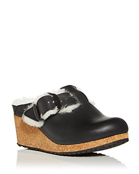 Birkenstock - Women's Papillio Fanny Shearling Wedge Clogs