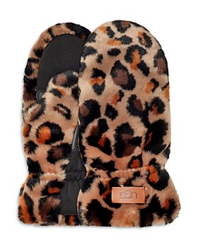 UGG® - Allover Faux Fur Mittens