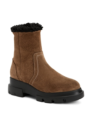 Aquatalia Women\\\'s Kyla Weatherproof Suede & Shearling Boots