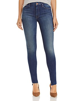 MOTHER - The Looker Step Hem Skinny Jeans in Skunk At The Tea Party