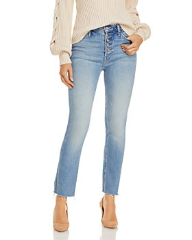 MOTHER - Pixie Dazzler Frayed Ankle Jeans in Au Revoir