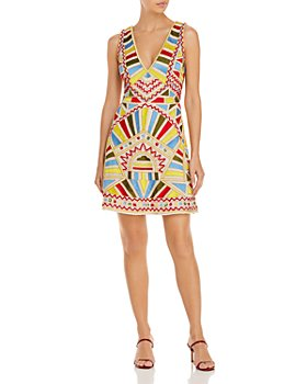 Aidan by Aidan Mattox - Embroidered Mini Dress
