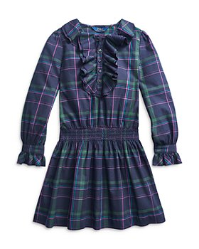 Ralph Lauren - Girls' Plaid Ruffle Dress - Little Kid, Big Kid