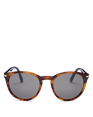Persol Unisex Polarized Round Sunglasses, 52mm