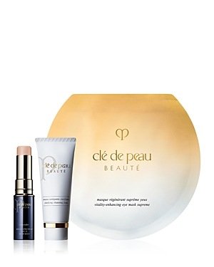 What It Is: A limited-edition set featuring three Cle de Peau Beaute bestsellers. Set Includes: - Concealer Spf 25 in Beige 0.17 oz. (Full Size) - Clarifying Cleansing Foam 0.68 oz. - Vitality-Enhancing Eye Mask Supreme (one application) What It Does: - Concealer Spf 25 delivers long-lasting, full coverage while correcting the appearance of dark circles, spots, imperfections and uneven tone without a heavy finish. Leaves skin looking smooth and refined with a seamless finish while protecting aga