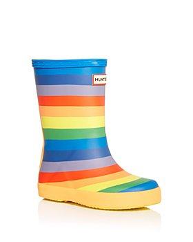 Hunter - Girls' Classic Rainbow Print Rain Boots - Walker, Toddler, Little Kid