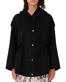 Maje - Gangzou Hooded Wool Blend Coat