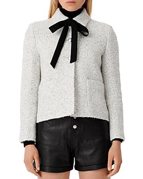 Maje - Vadka Ribbon Tie Bouclé Tweed Jacket